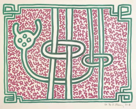 Keith Haring-Keith Haring - Chocolate Buddha-1989