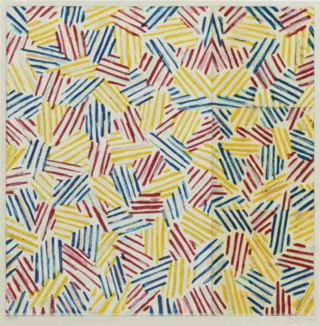 Jasper Johns-#6 (AFTER 'UNTITLED, 1975') (ULAE 179)-1976