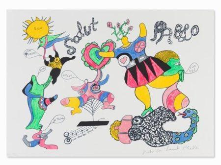 Niki de Saint Phalle-Salut Pablo-1973
