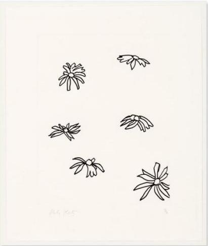 Alex Katz-From Edges / Konvolut Von Vier Blatt Radierungen Auf Karton Aus Der Folge Edges-1997