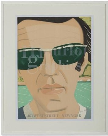 Alex Katz-Self-Portrait, Mourlot (Maravell 33)-1970