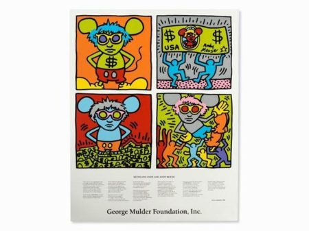Keith Haring - Keith and Andy and Andy Mouse-1986