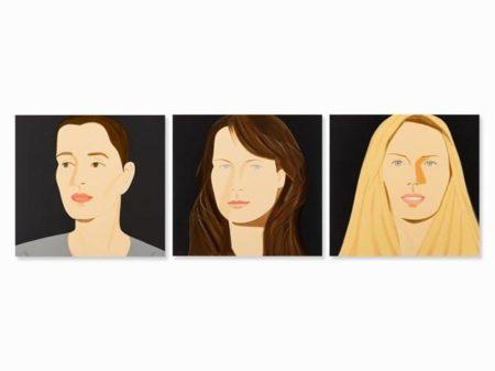 Alex Katz-Portraits Sara, Vivien & Sophie-2012