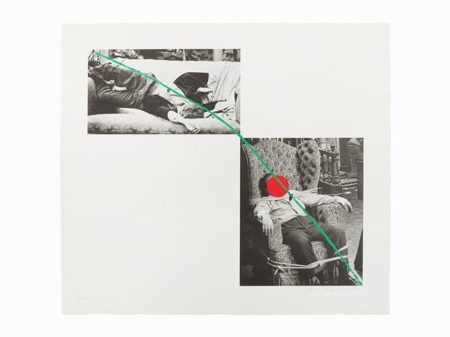 John Baldessari-Man Collapsed on Sofa; Man Tied to Chair / A Fix'd Inflexible Sorrow / Tristram Shandy-1988