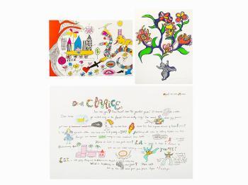 Niki de Saint Phalle-Group of 3-1983