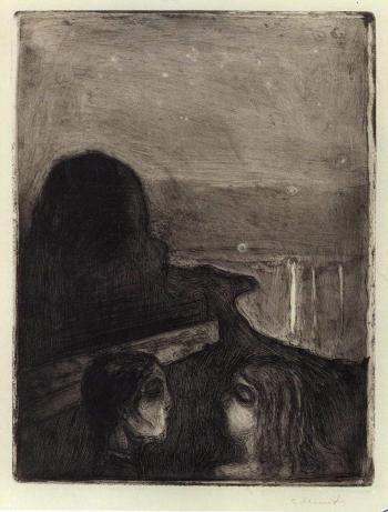 Edvard Munch-Tiltrekning I / Attraction I-1895