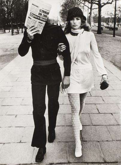 Helmut Newton-Les Galuois tous les deux Yves Saint Laurent-1970