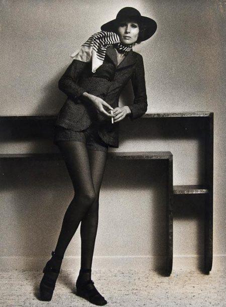 Helmut Newton-Mercedes Tzantoff at Karl Lagerfeld's Studio-1965