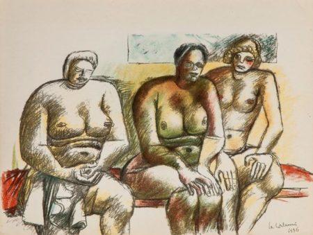 Le Corbusier-Untitled, from Oeuvre plastique, peintures et dessins-1938
