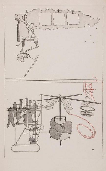 Marcel Duchamp-Eight Etchings from The Large Glass and other Related Works (Untitled)-1968