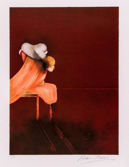 Francis Bacon-Left Panel from Second Version of the Triptych-1988