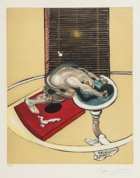 Francis Bacon-L'homme au Lavabo-1978