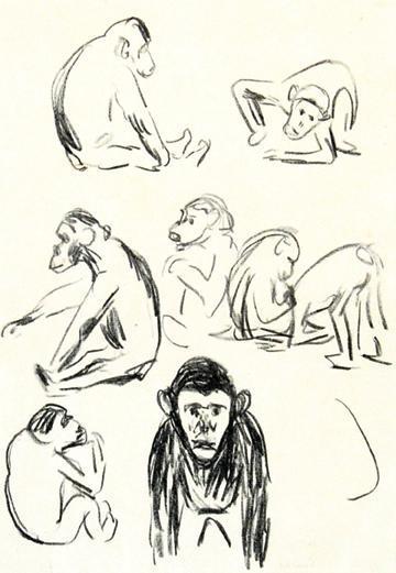 Edvard Munch-Apes (W. 332) / Affen I-1908