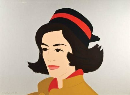 Alex Katz-Ada in a Black Hat / Ada in Hat-1990