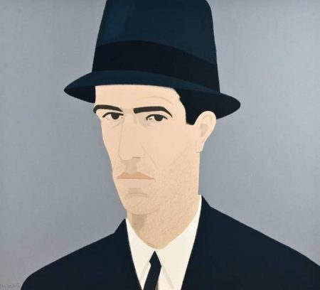 Alex Katz-Passing / Man in Hat / Self-Portrait-1990