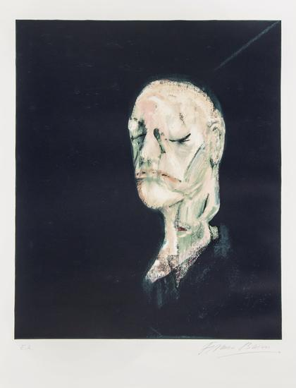 Francis Bacon-After Study of Portrait Head Based on the Life Mask of Willia-