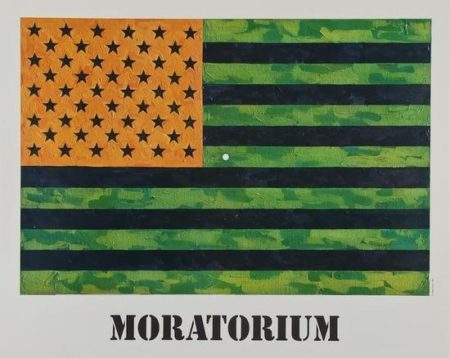 Jasper Johns-Flag (Moratorium) poster-1969