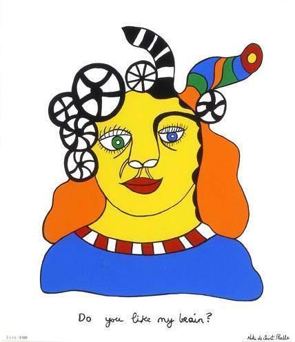 Niki de Saint Phalle-Do you like my brain-