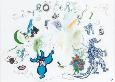Niki de Saint Phalle-Petit mot amical a Robert-