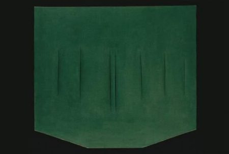 Lucio Fontana-Concetto spaziale, Attese (59-T-144) (Spacial Concept Waiting)-1959