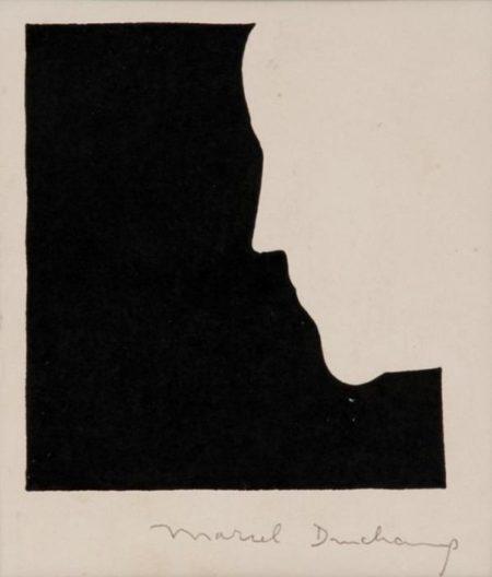 Marcel Duchamp-Self portrait from in profile-1958
