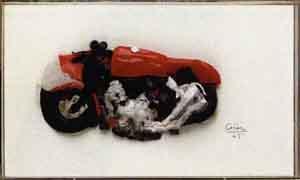 Lucio Fontana-Spetsovalt objekt-