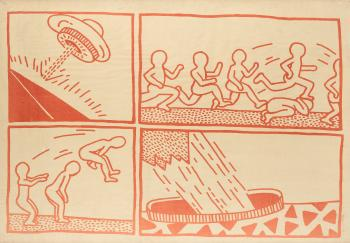 Keith Haring-Keith Haring - Blueprint drawing-1981