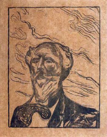 Edvard Munch-Portrat Holger Drachmann / Portrait of Holger Drachmann-1901