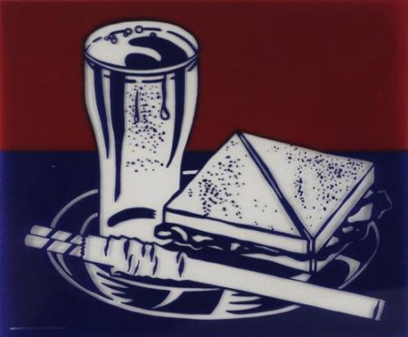 Roy Lichtenstein-Sandwich and Soda-1999