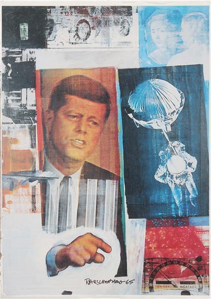 Robert Rauschenberg-Robert Rauschenberg - Kennedy-1965