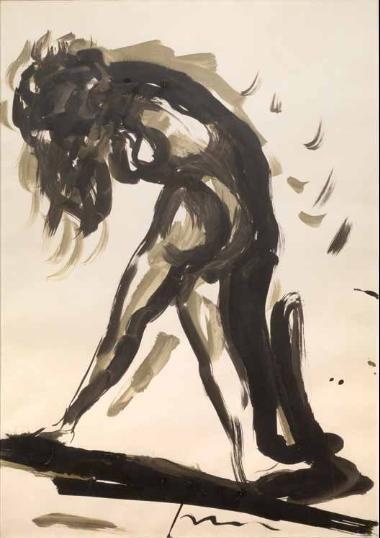 Lucio Fontana-Figura in piedi-1962