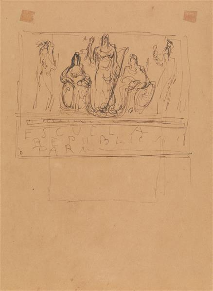 Lucio Fontana-Studi per monumento funebre-1940