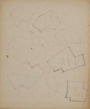 Lucio Fontana-Studio per concetto spaziale, Attese-1961