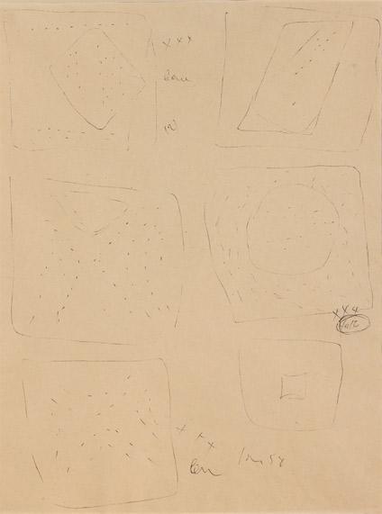 Lucio Fontana-Concetti spaziali-1958