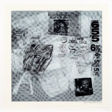 Robert Rauschenberg-Robert Rauschenberg - Surface Series # 39 (From Currents) (F. 110)-1970