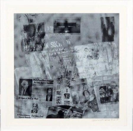 Robert Rauschenberg-Robert Rauschenberg - Surface Series # 42-1970