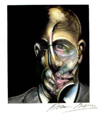 Francis Bacon-Portrait Michel Leiris-1990