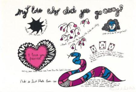 Niki de Saint Phalle-My love why did you go away-1968