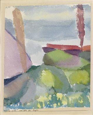 Paul Klee-Seeufer Bei Regen-1913