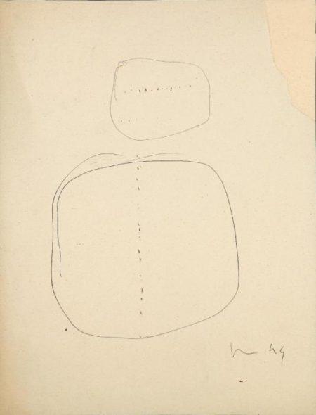 Lucio Fontana-Zwei Entwurfe fur Buchi-1949