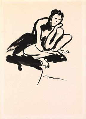 Lucio Fontana-Nudo Femminile-1964