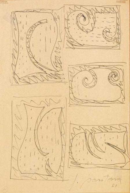 Lucio Fontana-Studi per Concetto spaziale, Teatrino-1951