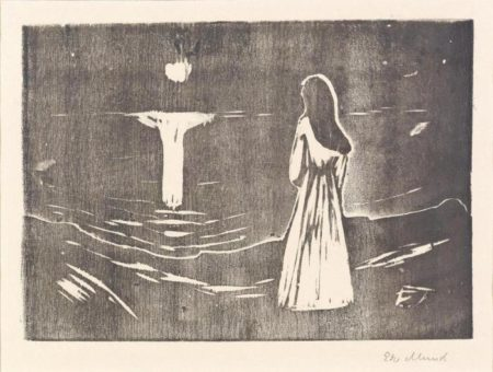 Edvard Munch-Mondschein am Meer-1912