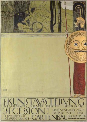 Gustav Klimt-Theseus und Minotaurus (I Kunstausstellung der Vereinigung Bildender Kunstler Osterreichs Secession)-1898