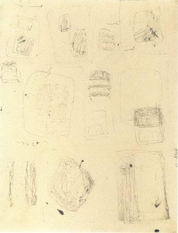 Lucio Fontana-Studi-1953