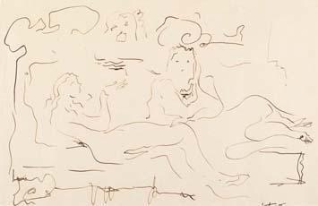 Lucio Fontana-Leda con cigno-1949