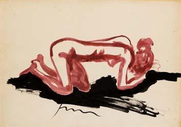 Lucio Fontana-Nudo inginocchiato-