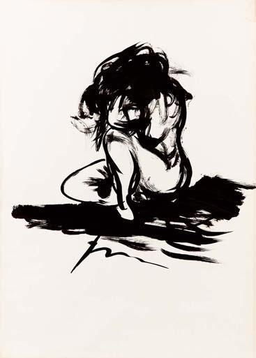 Lucio Fontana-Figura femminile-
