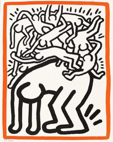 Keith Haring-Keith Haring - Fight AIDS worldlife-1990