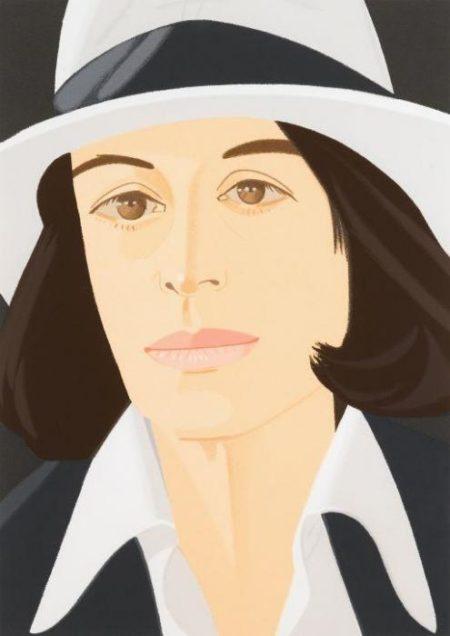 Alex Katz-Ada in a White Hat / White Hat-1990